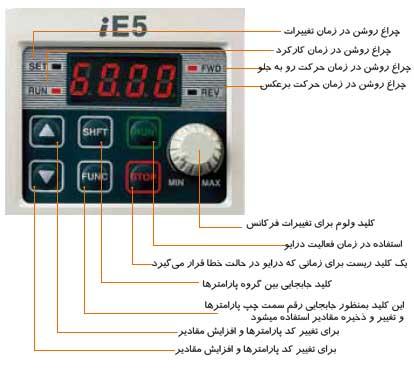ie5 تکفاز keypad